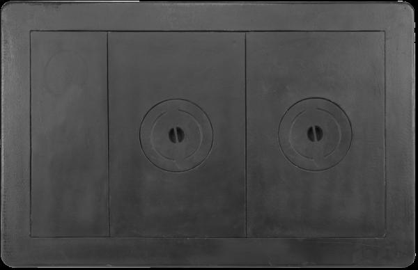 Plita soba din fonta cu doua ochiuri 950 mm lungime x 620 mm latime 0