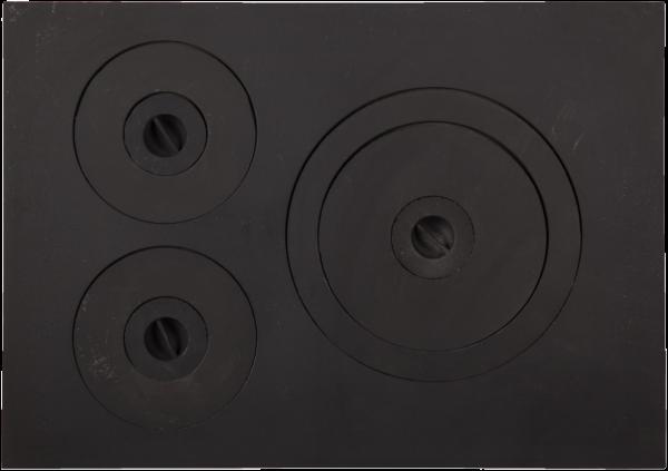 Plita din fonta cu trei ochiuri dimensiuni 532 mm x 378 mm 0