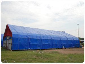 Prelata impermeabila cu inele 90 gr/mp dimensiune 5 x 6 m, albastra2
