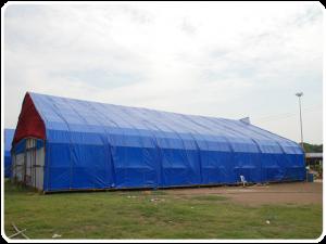 Prelata impermeabila cu inele 90 gr/mp dimensiune 6 x 8 m, albastra2