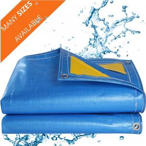 Prelata impermeabila cu inele 90 gr/mp dimensiune 4 x 5 m, albastra0