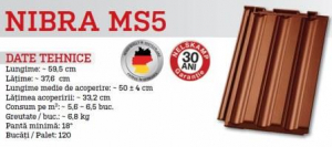Tigla ceramica NIBRA MS53