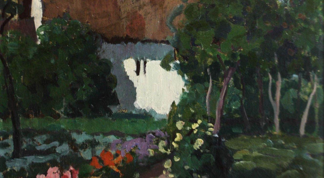 BALLA Béla, Peisaj cu casă și grădină