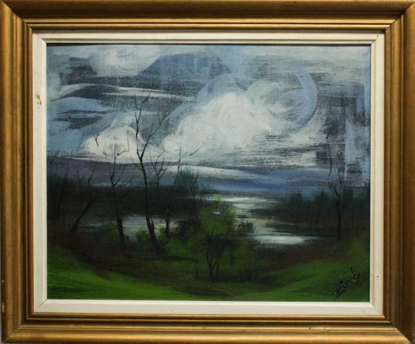Biro I Geza, Peisaj cu lac, 1991 4