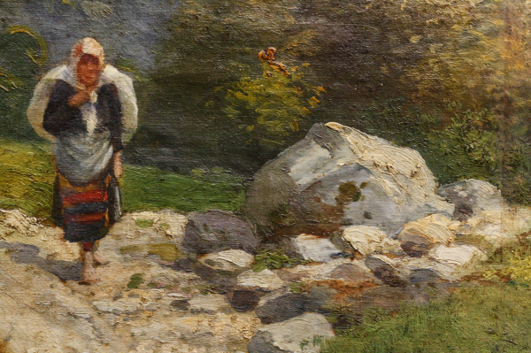 ZORKÓCZY Gyula (atr.),Tărancă la marginea pădurii 1