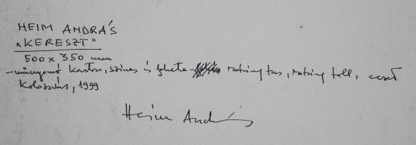 HEIM András, Cruce I Kereszt, 1999 [1]