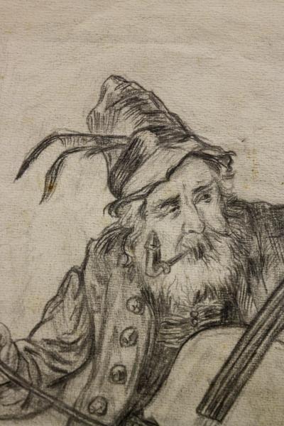 AUTOR transilvănean neidentificat, Bătrân muzician 1