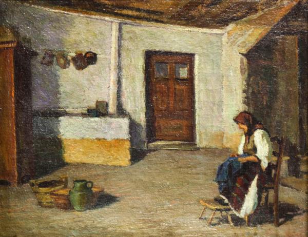BALLA Béla, Țărancă în bucătărie (după Grigorescu), 1938 [0]