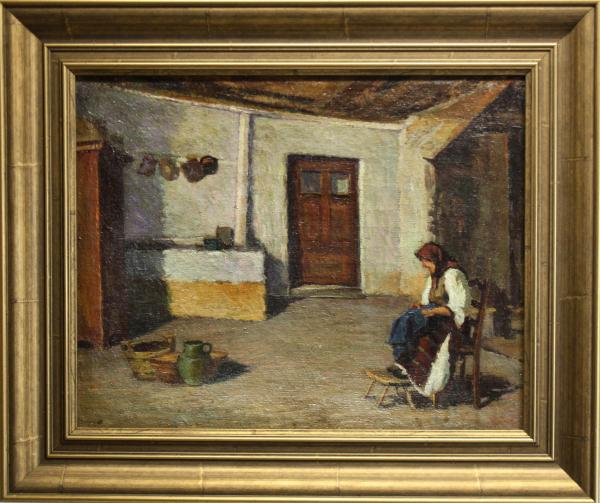 BALLA Béla, Țărancă în bucătărie (după Grigorescu), 1938 [3]