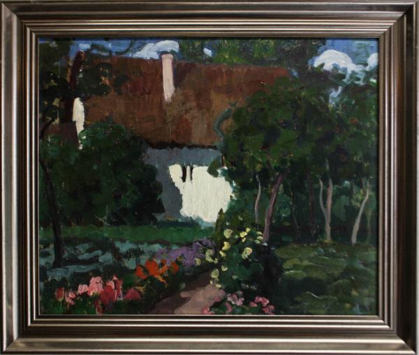 BALLA Béla  Peisaj cu casă și grădină 2