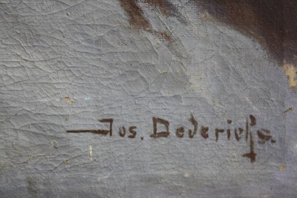 Josef DEDERICHS, Peisaj hibernal cu cruce 1
