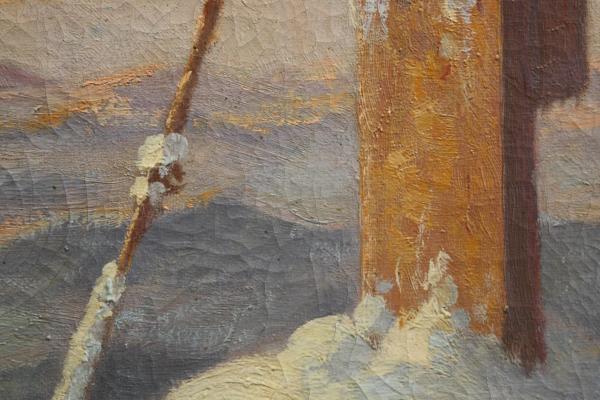 Josef DEDERICHS, Peisaj hibernal cu cruce 2