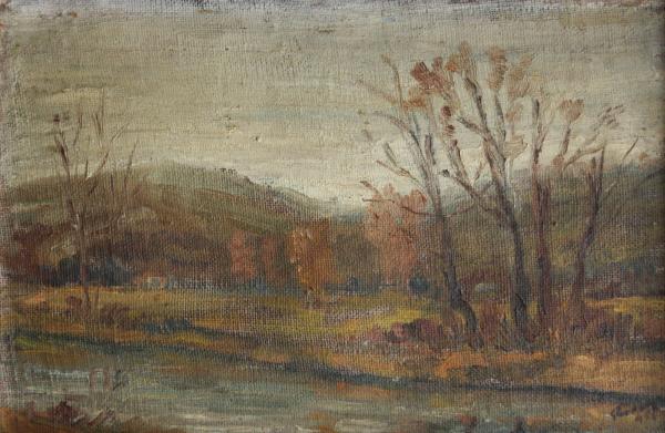 RODAN Yehuda (István), Peisaj cu râu, 1955 0