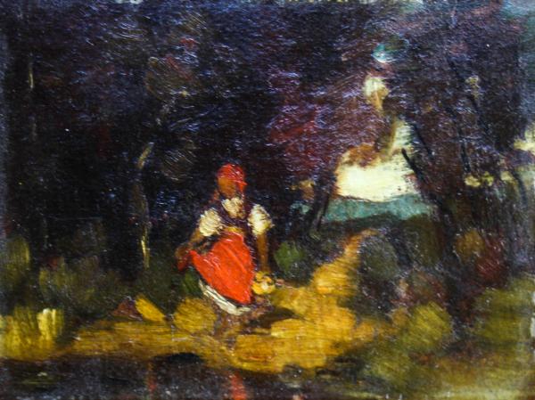 Teodor HARȘIA, Fetiță în pădure [0]