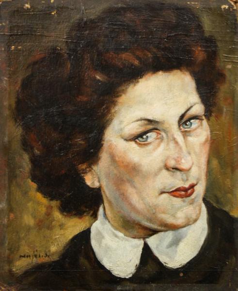HAJÓS Imre László, Portret de doamnă / domnișoară ( pictat față / verso) 0