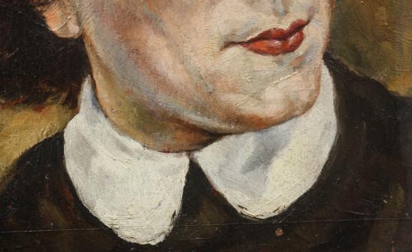 HAJÓS Imre László, Portret de doamnă / domnișoară ( pictat față / verso) 2