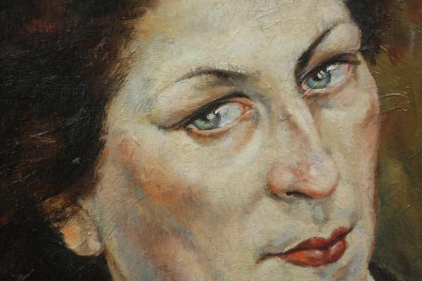 HAJÓS Imre László, Portret de doamnă / domnișoară ( pictat față / verso) 1