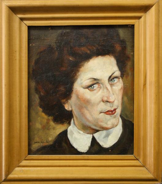 HAJÓS Imre László, Portret de doamnă / domnișoară ( pictat față / verso) 4