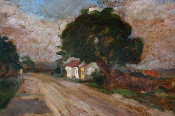 MACALIK Alfréd, Uliță de sat transilvănean,1942 1