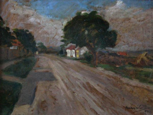 MACALIK Alfréd, Uliță de sat transilvănean,1942 0