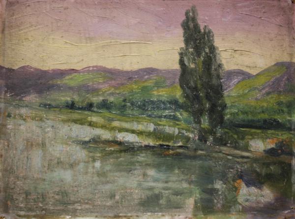 Peisaj cu lac 0
