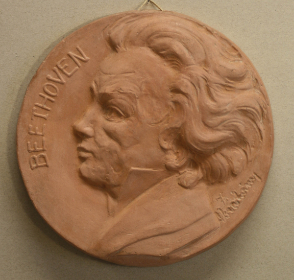 C. RÜFFER, Medalie comemorativă - Beethoven, 1940 0