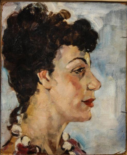 HAJÓS Imre László, Portret de doamnă / domnișoară ( pictat față / verso) 5