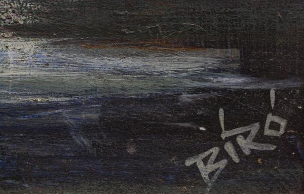 BIRÓ I. Géza, Peisaj cu vilă și păsări 3