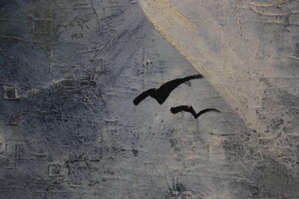 BIRÓ I. Géza, Peisaj cu vilă și păsări 2