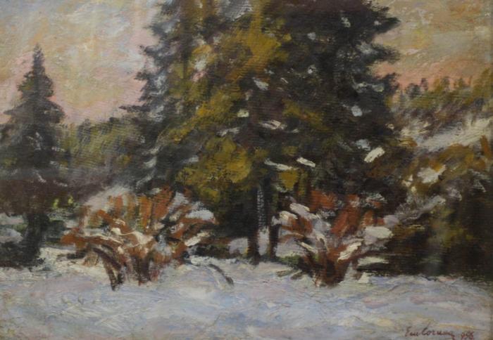 Emil CORNEA, Peisaj din Borsec,1956 [0]