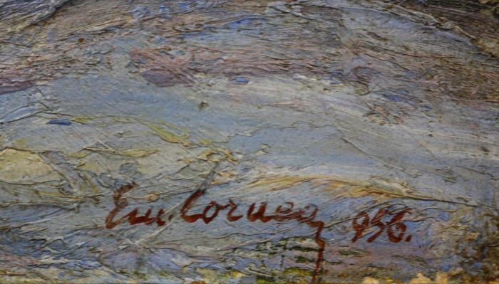 Emil CORNEA, Peisaj din Borsec,1956 [2]