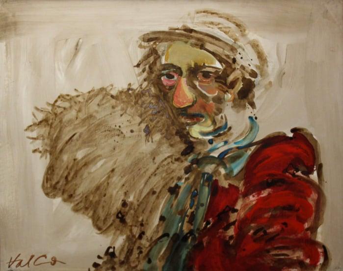 Valentin CODOIU, Portret cu haină roșie 0