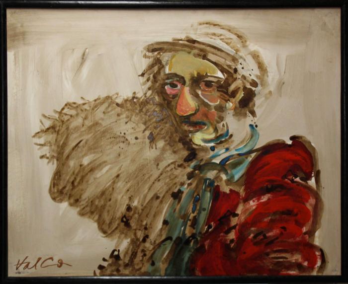Valentin CODOIU, Portret cu haină roșie 4