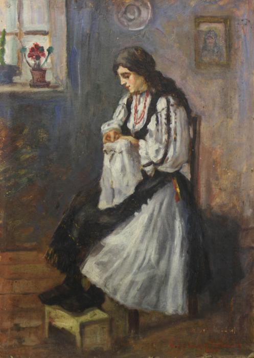 Maria CABADAIEF DRÁGAN, Țărancă din Săliște cosând, 1937 [0]