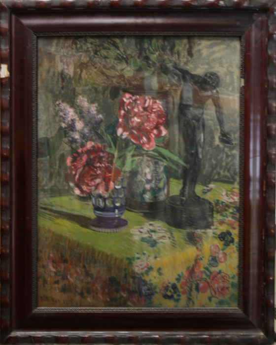 MIKES MÜNICH Ödön, Still Life with Flowers and Greek Rotary, 1905 [3]