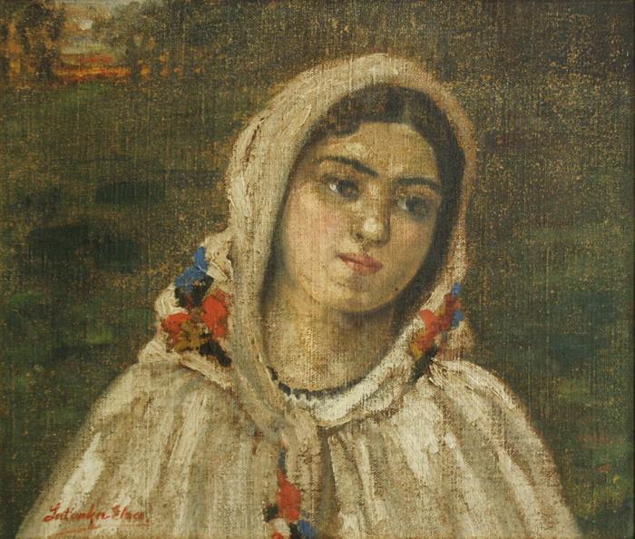 LATINKA Elza, Portret de țărancă cu maramă [0]