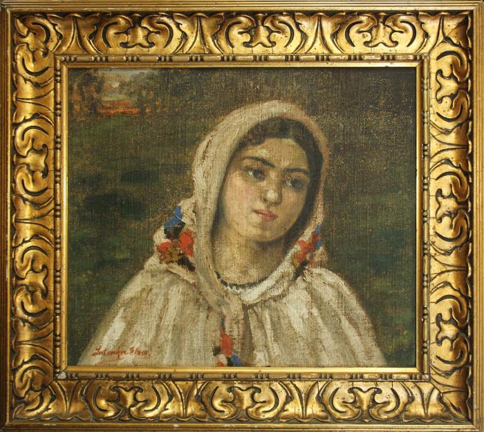 LATINKA Elza, Portret de țărancă cu maramă [3]