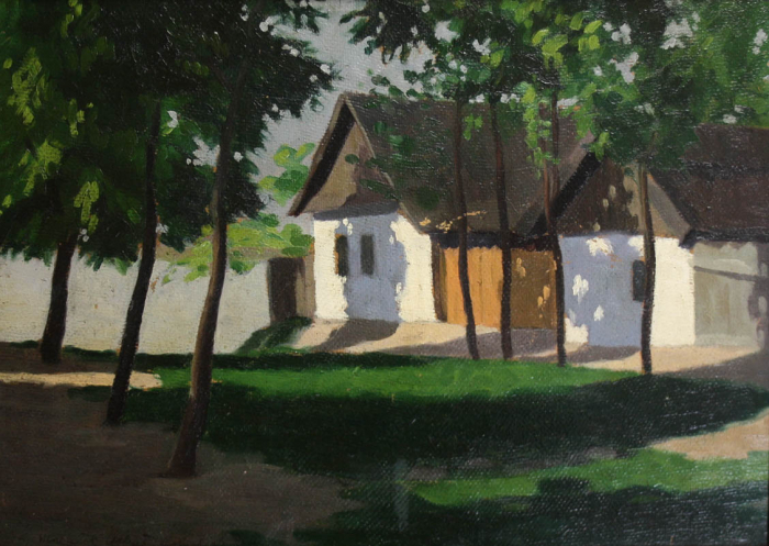 MACALIK Alfréd, Peisaj cu case la Szolnok, 1917 [0]