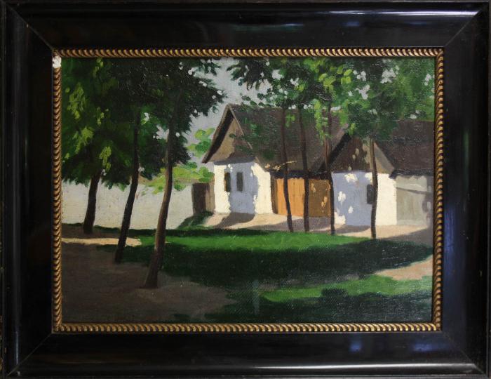 MACALIK Alfréd, Peisaj cu case la Szolnok, 1917 [4]