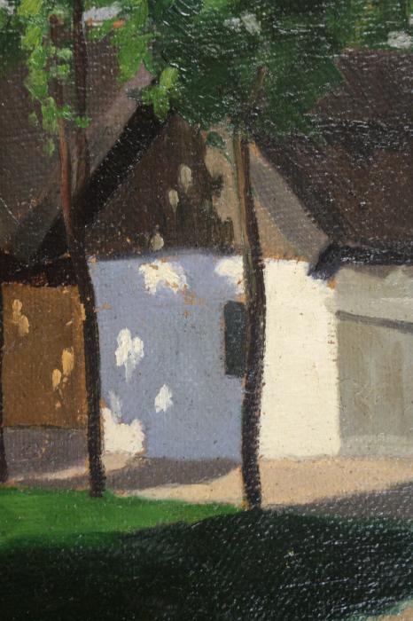 MACALIK Alfréd, Peisaj cu case la Szolnok, 1917 [1]