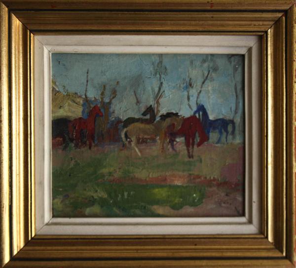 Traian GOGA, Peisaj cu cai, 1976 2