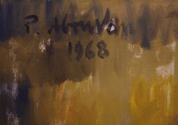 Petre ABRUDAN, Personaj în crinolină galbenă, 1968 3