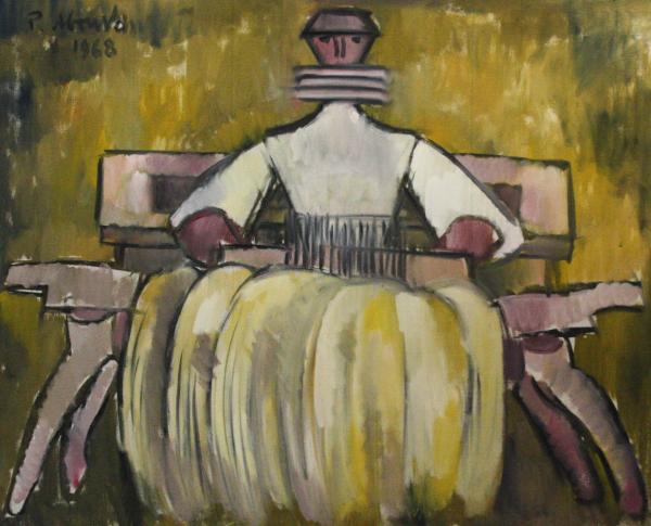 Petre ABRUDAN, Personaj în crinolină galbenă, 1968 0