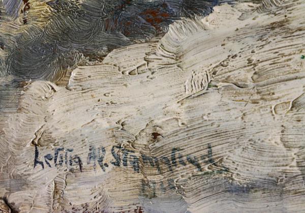 Letiția ALEXANDRU STAMATIAD, Peisaj de iarnă cu copaci 2
