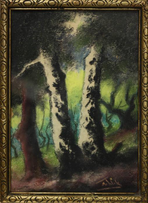 SZTELEK Norbert, Peisaj cu casă în pădure I Pădure [7]