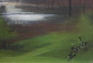 Biro I Geza, Peisaj cu lac, 1991 [3]