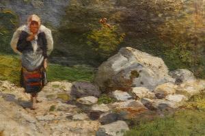 ZORKÓCZY Gyula,Tărancă la marginea pădurii1