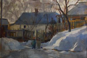 KRISTÓFI János, Peisaj de iarnă, 1964 [0]