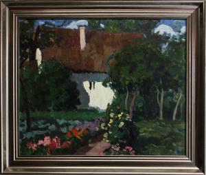 BALLA Béla,  Peisaj cu casă și grădină2