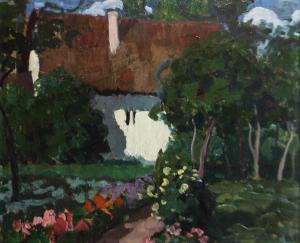 BALLA Béla,  Peisaj cu casă și grădină0